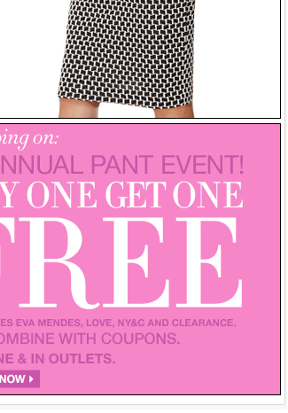 All Pants and Jeans are B1G1 Free!
