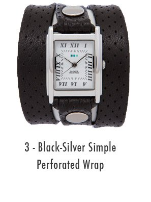 Black-Silver Simple Perforated Wrap