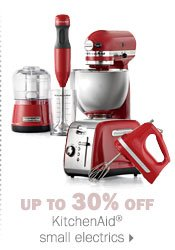 Up to 30% off KitchenAid® small  electrics.