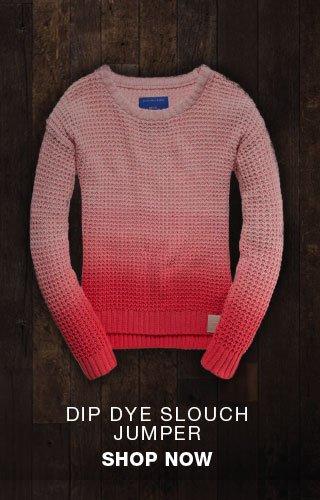 dip dye slouch jumper