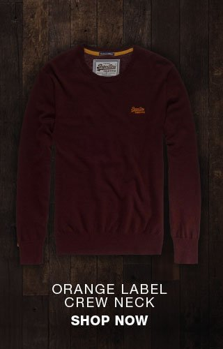 orange label crew neck