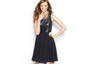 Sleek & Chic: Faux & Real Leather Looks