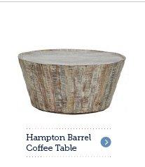 Hampton Barrel Coffee Table