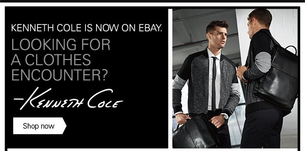 KENNETH COLE IS NOW ON eBay.