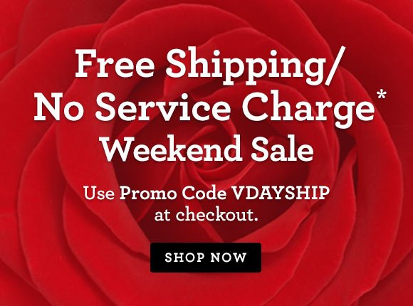 Free Shipping/No Service Charge* Weekend Sale Shop our exclusive collection and use Promo Code VDAYSHIP at checkout. Shop Now