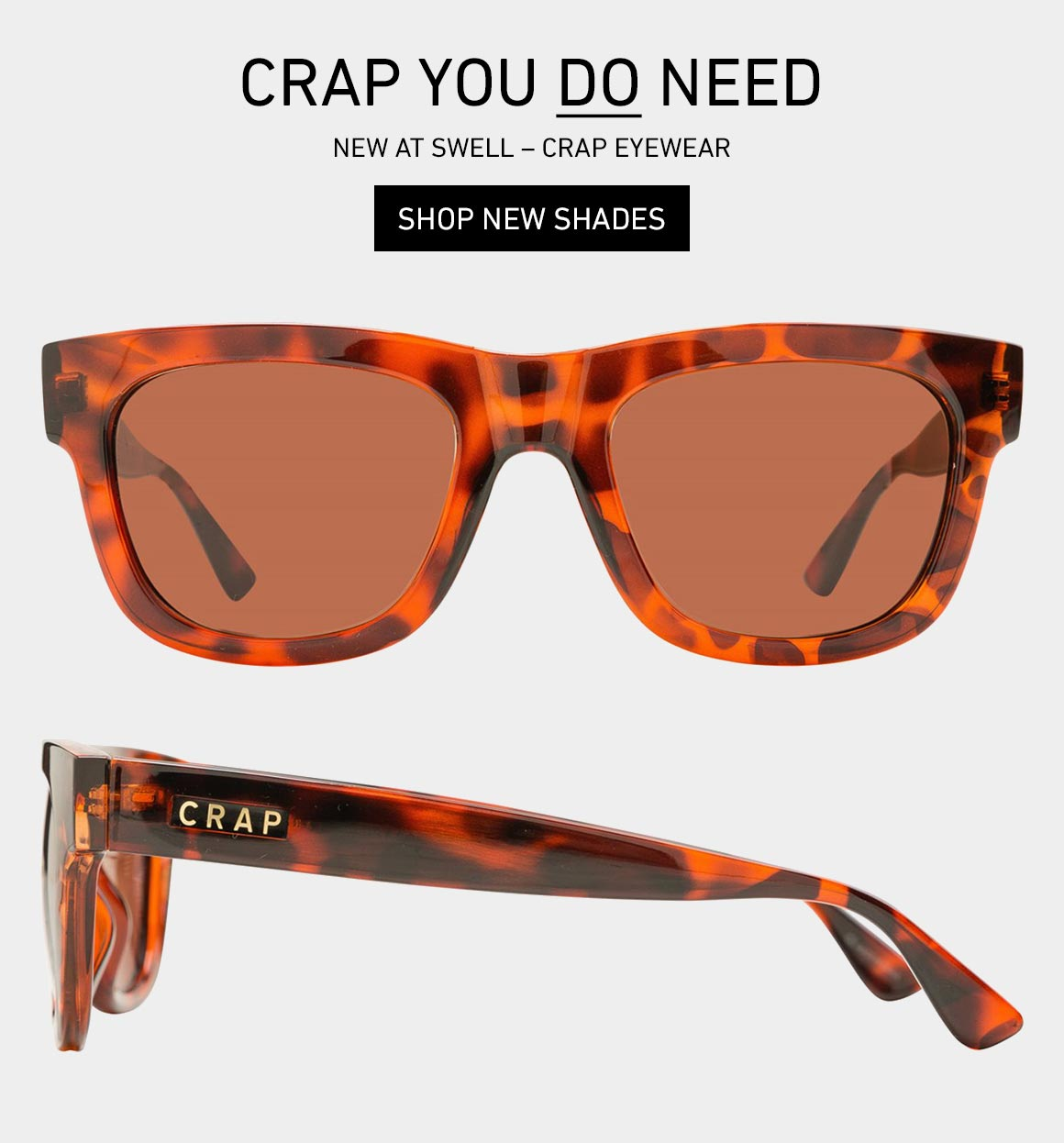 Crap You DO Need: Shop Crap Eyewear