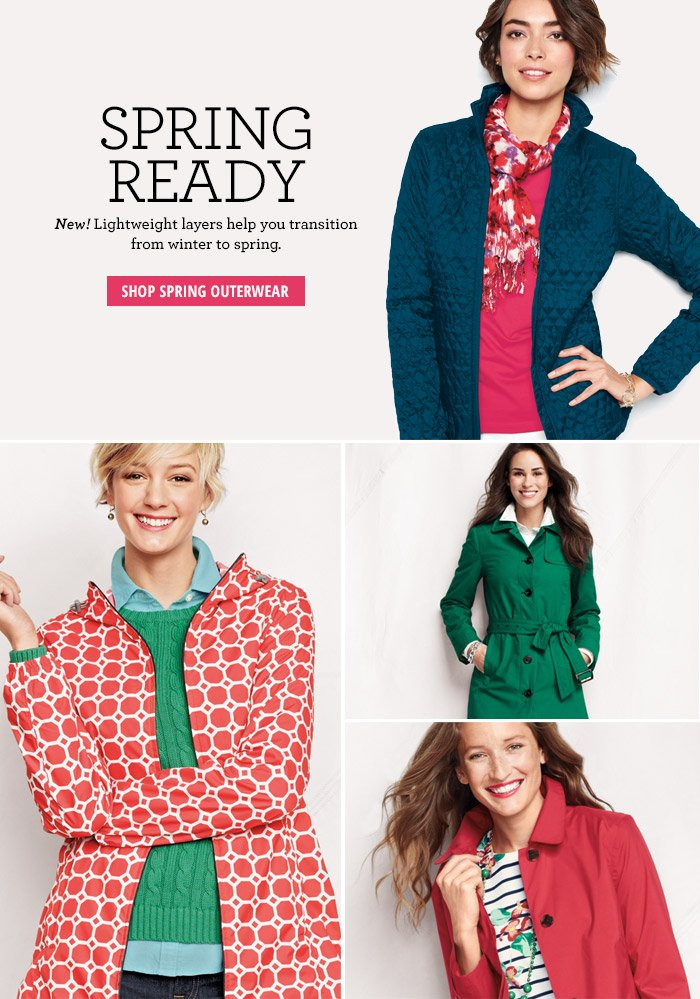Spring Ready - Shop Spring Outerwear