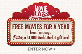 Enter to win movie tickets for a year!
