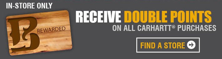 Receive Double Points On All Carhartt Purchases