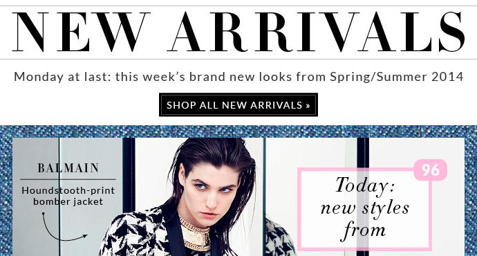 MONDAY AT LAST: THE WEEK'S BRAND NEW LOOKS FROM SPRING/SUMMER 2014
