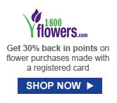 Get 30% back in points on flower purchases made with a registered card | SHOP NOW