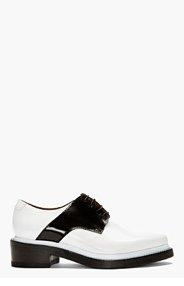ACNE STUDIOS Black & White Lark Mix Saddle Shoes for women