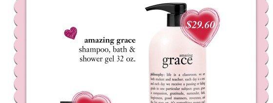 00650403 - 32oz amazing grace shower gel ag assortment - sale price $29.60