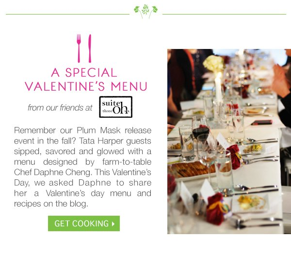 Explore Valentine's Day Menu from Daphne Cheng