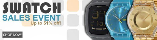 Save up to 51% during the Swatch Watches sales event