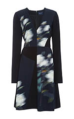 Mega Rose Cady Stretch V-Neck A-Line Dress