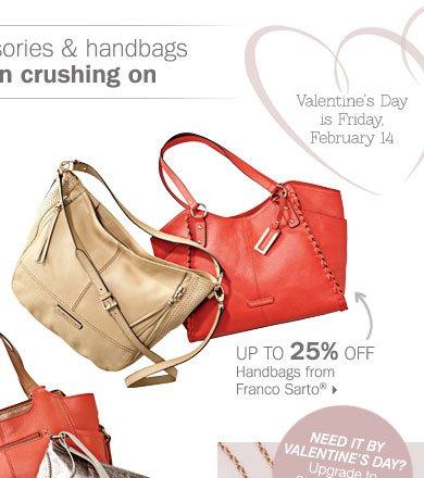 Up to 25% off handbags from Franco  Sarto®.