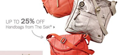 Up to 25% off handbags from The Sak®.