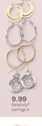 9.99 Relativity® earrings.