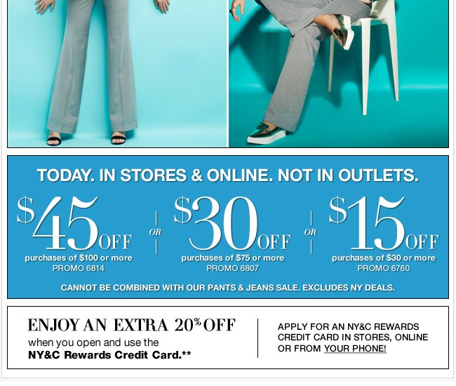 Today Only, Use this coupon in stores and online!