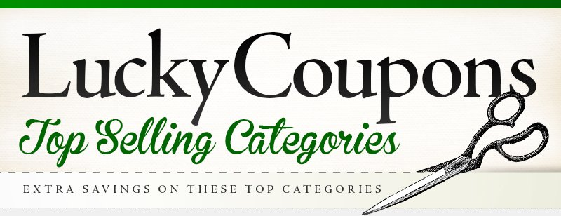 Coupon Corner Categories
