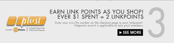Earn 2 linkpoints with every $1 spent