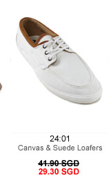 Canvas and suede loafers for 29.30 SGD