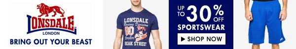 Lonsdale sale up to 30% off