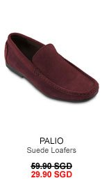 Palio suede loafers for 29.90 SGD