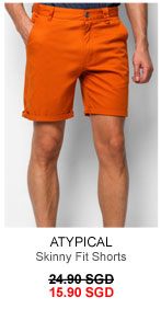 Skinny fit chino shorts for 15.90 SGD