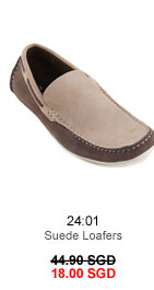 Suede loafers for 18.00 SGD