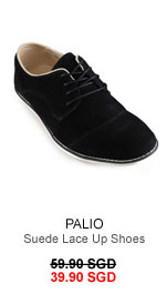 Suede lace up shoes for 33.90 SGD
