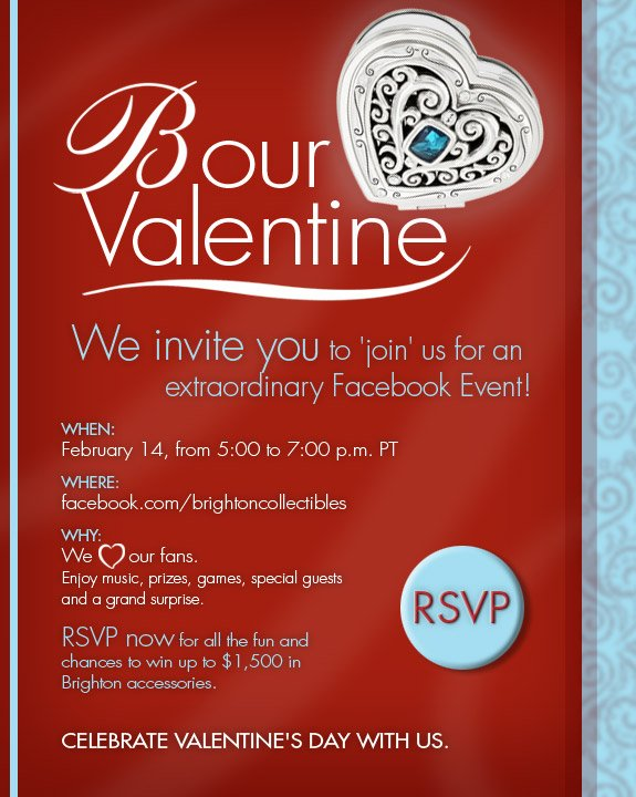 Be Our Valentine - Join us for an extraordinary Facebook Event!