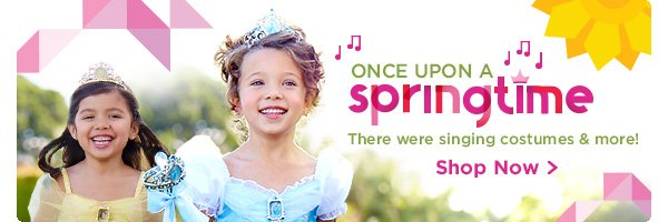 Once Upon a Springtime - There were singing costumes and more! | Shop Now
