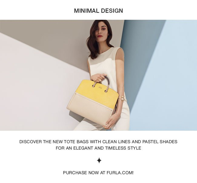 Discover the new tote bags with clean lines and pastel shades for an elegant and timeless style