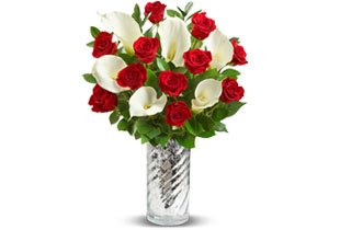 Red Rose & Calla Lily Bouquet Shop Now