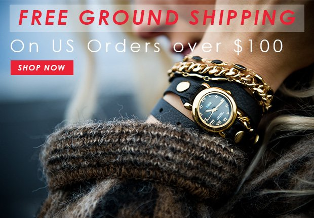 Free Ground Shipping on US Orders over $100