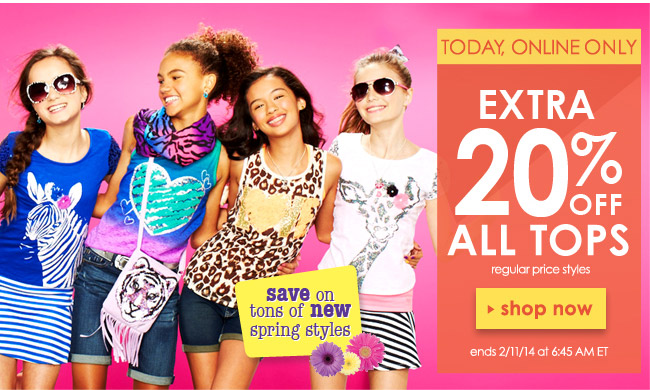 Extra 20% off tops