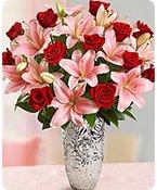 Romantic Rose & Lily Bouquet Shop Now