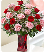 Shades of Pink and Red™ Premium Long Stem Roses Same-Day Local Florist Delivery Shop Now