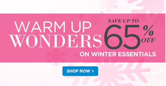 Save up to 65% off on winter essentials