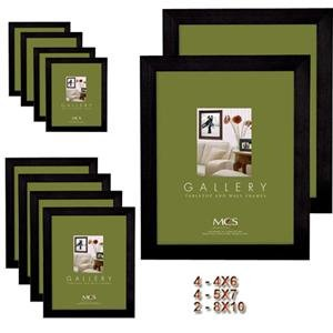 Adorama - MCS Flat-top Wood Picture Frame Set of 10