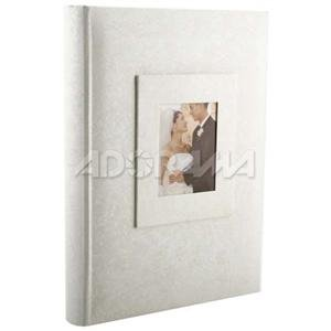 Adorama - Kleer-Vu Photo Album with Window, Wedding Moire Collection, Holds 300 4x6 Photos