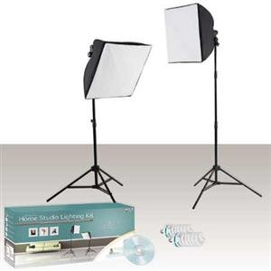 Adorama - Westcott Erin Manning Home Studio Lighting Kit with 2 Constant Output uLites, Softboxes, Stands, Bulbs & Educational DVD
