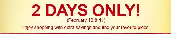 BIG VALENTINE SAVINGS SUPER SALE + Free Express Shipping Upgrade + Super Deep Discount Coupon Code