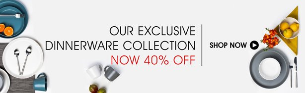Shop Our Exclusive Dinnerware Collection Now 40% Off