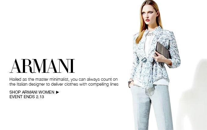 Shop Armani - Ladies.