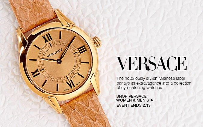 Shop Versace Watches - Ladies & Mens.