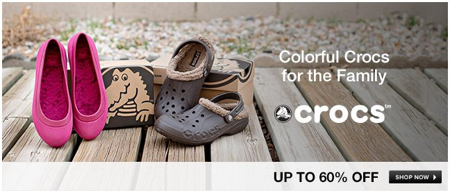 Colorful Crocs for the Family