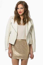 Plaits of Sequins Skirt